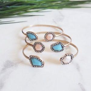 Jewelry - Crystal & Stone Cuff Bracelet